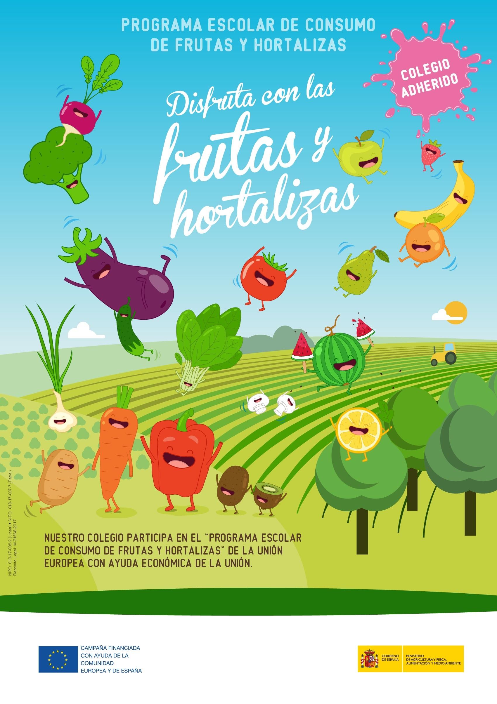 Cartel programa frutas 2018